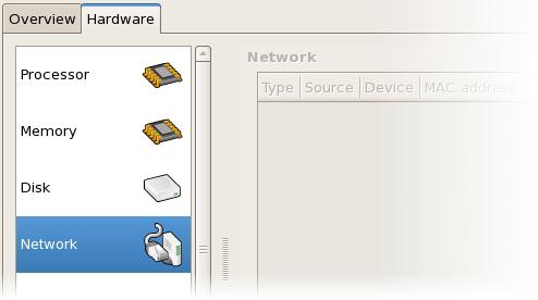 ネットワーク設定の表示