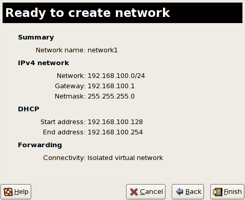 Ready to create network