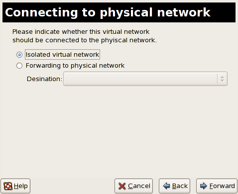 Connecting to physical network