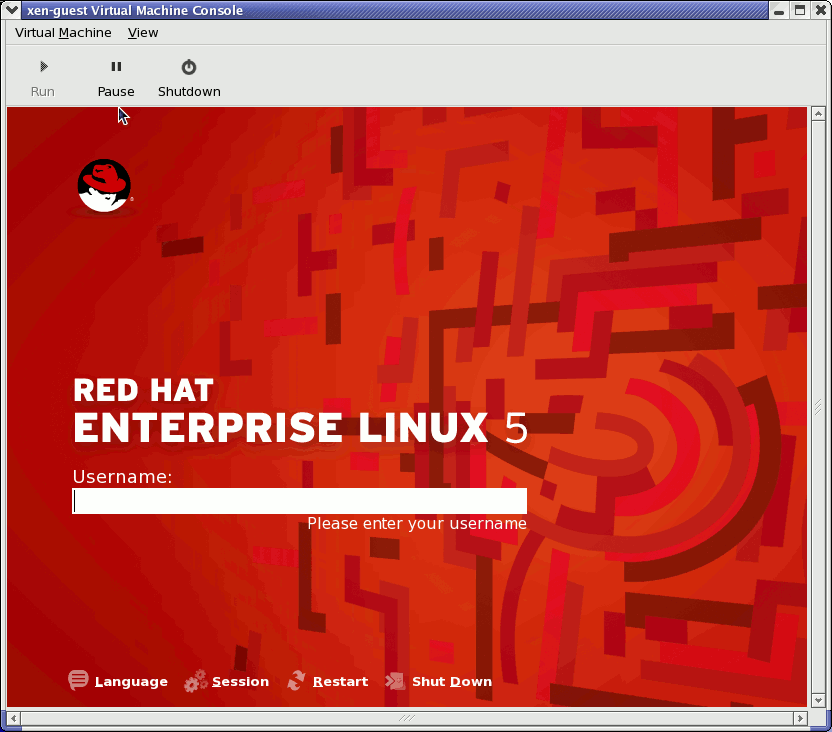 Red Hat Enterprise Linux 5.1 (guest)