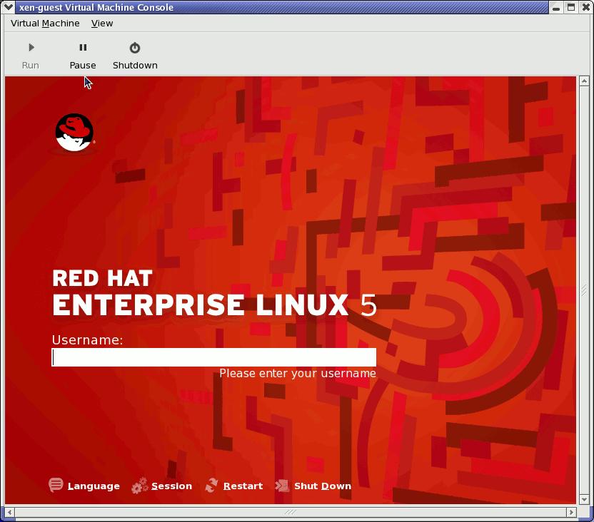 Red Hat Enterprise Linux 5.1 (guest)