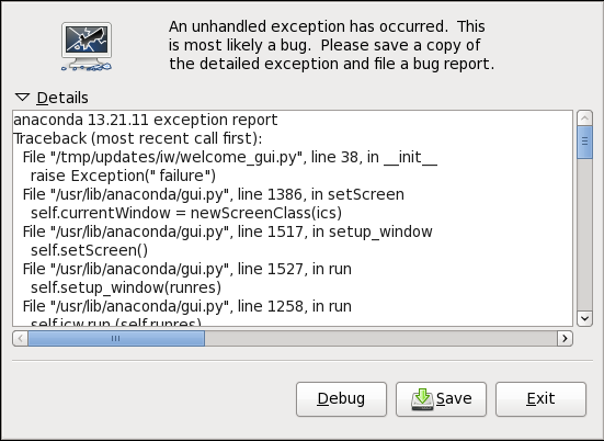 text-based installer