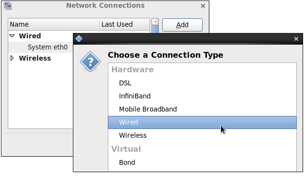 type network connection
