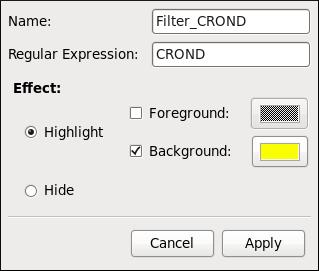 Log File Viewer - defining a filter