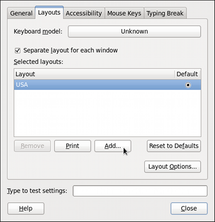 Keyboard Layout Preferences