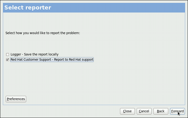 Selecting a problem reporter