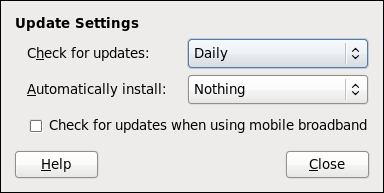 Setting PackageKit's update-checking interval