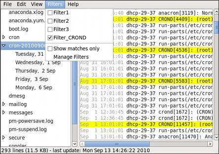 Log File Viewer - enabling a filter