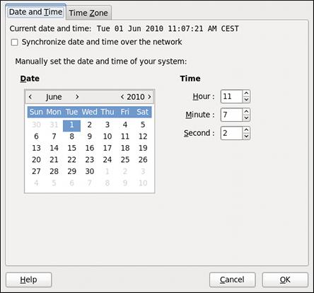 日付と時刻のプロパティ