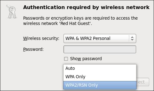 無線アクセスポイントへの認証