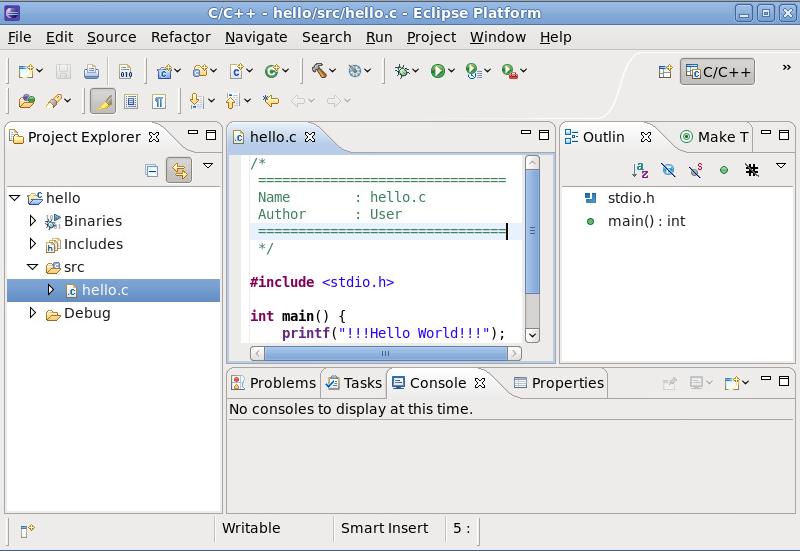Eclipse ユーザーインターフェース (デフォルト)