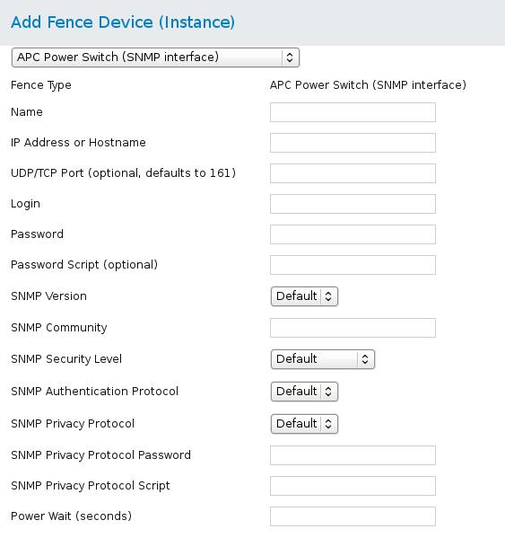 SNMP 経由の APC 電源スイッチ