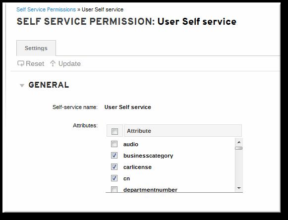 Self-Service Edit Page