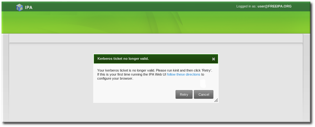 Kerberos Authentication Error