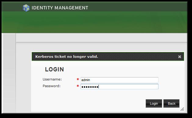IdM Password Prompt
