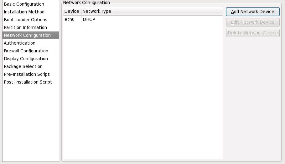 Netzwerkkonfiguration