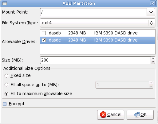 Creating a New Partition