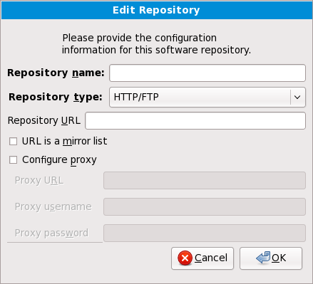 Adding a software repository
