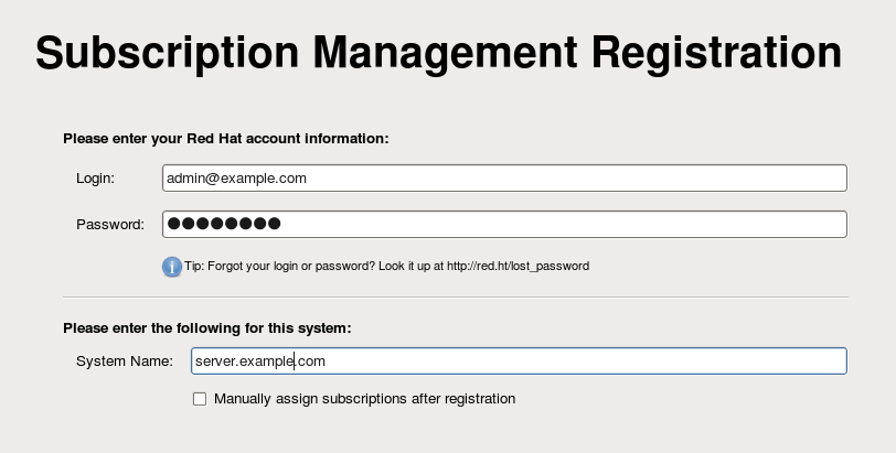 Subscription Management Registration