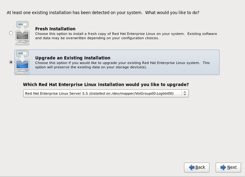 The Upgrade Dialog