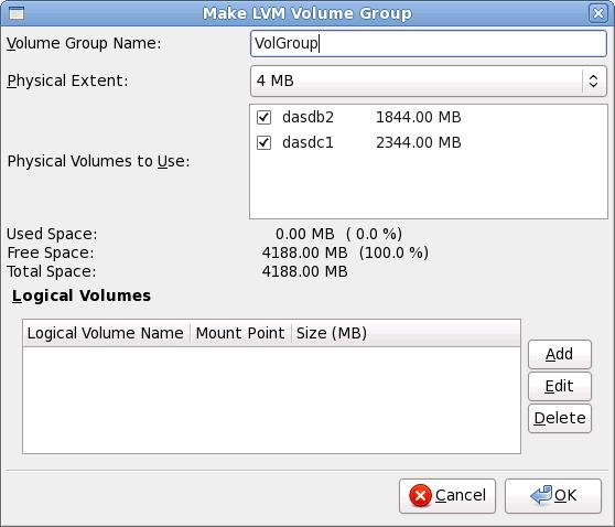 Make LVM Volume Group