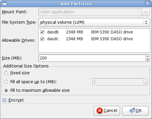 linux how to make lvm physical volume