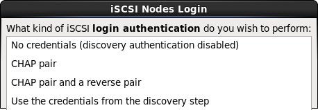 iSCSI session authentication