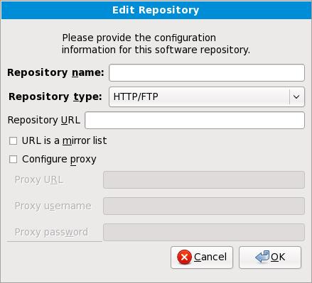 Adición de un repositorio de software