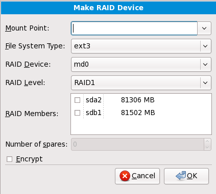 Crear un dispositivo RAID