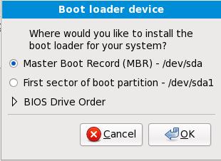 Installazione del boot loader