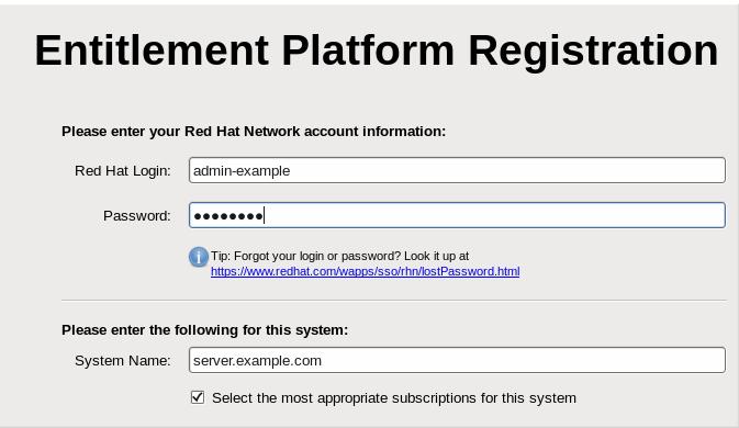 Registrazione piattaforma di entitlement