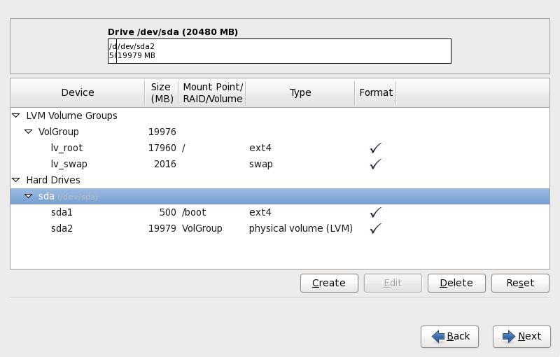 x86、AMD64、および Intel 64 システムで パーティション設定