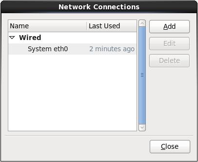 ネットワークの接続