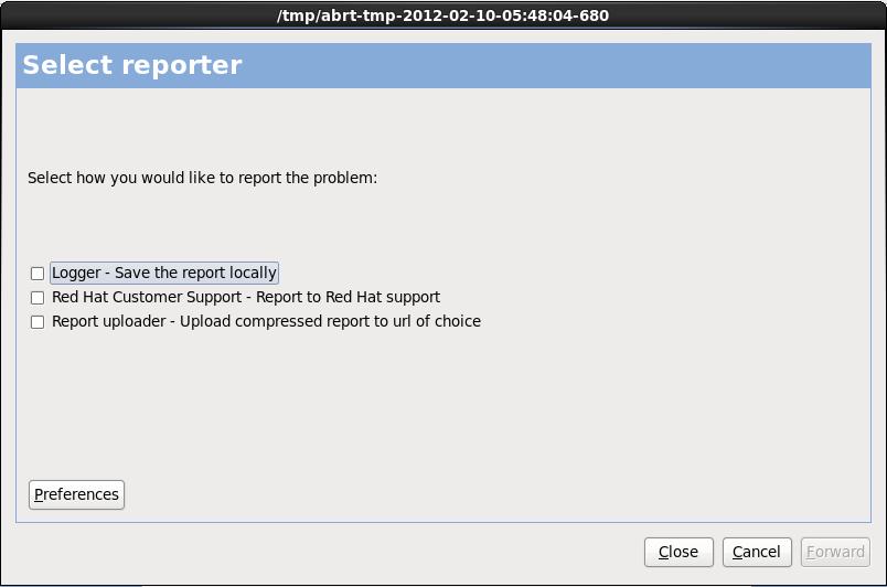 보고서 선택