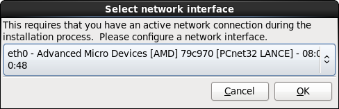 네트워크 인터페이스 선택