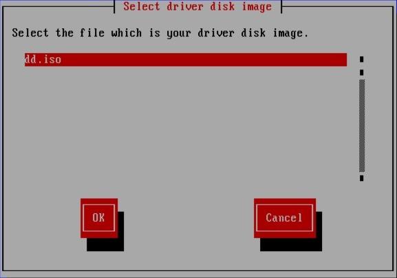Selecionando uma imagem ISO