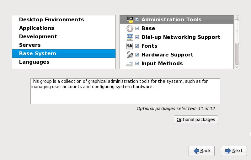 软件包组详情