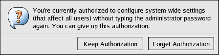 Dismiss Authentication Dialog