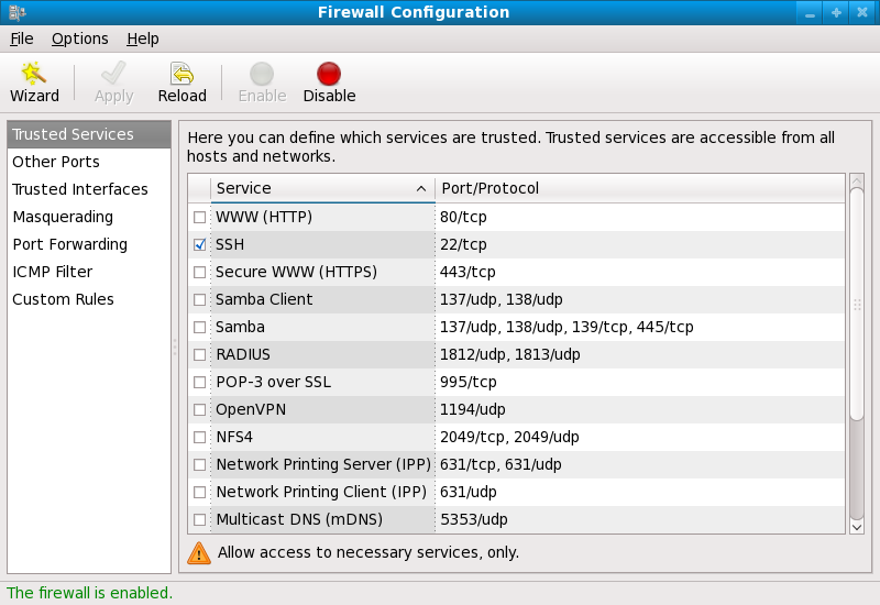 Firewall-Konfigurationstool