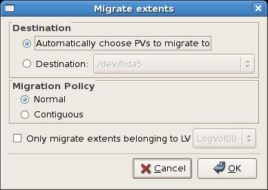 Migrate Extents