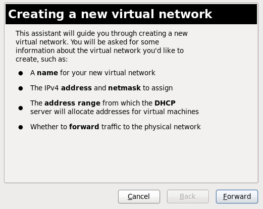 新しい仮想ネットワークを作成する