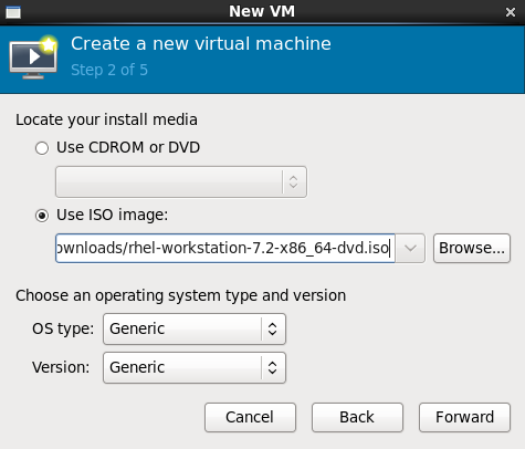 Local ISO image installation