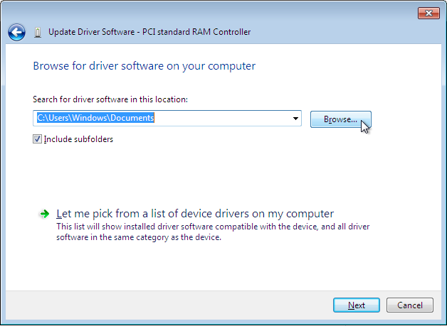 The driver update wizard.
