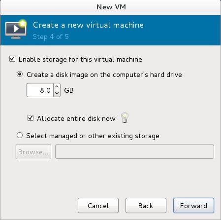 The New VM window - Step 4