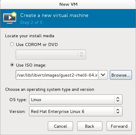 The New VM window - Step 2