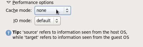 Virtual Disk Performance Options