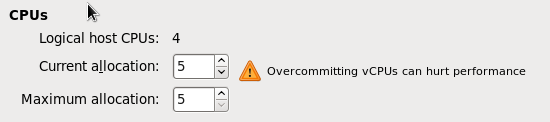 CPU のオーバーコミット