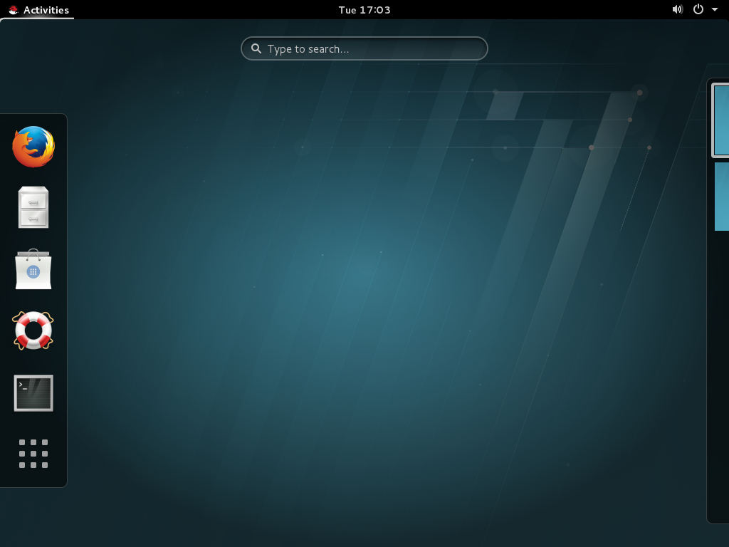 The GNOME 3 Desktop (GNOME Classic)