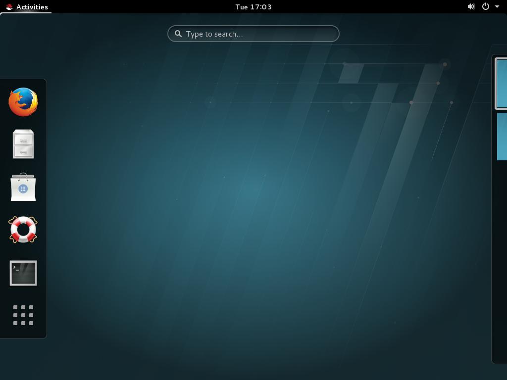 GNOME 3 デスクトップ (GNOME クラシック)