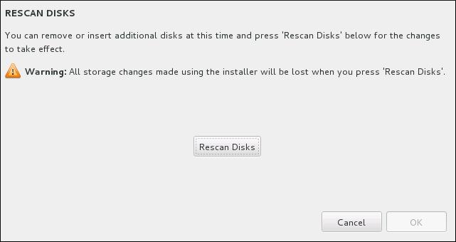 Speicherkonfiguration von Festplatte neu laden